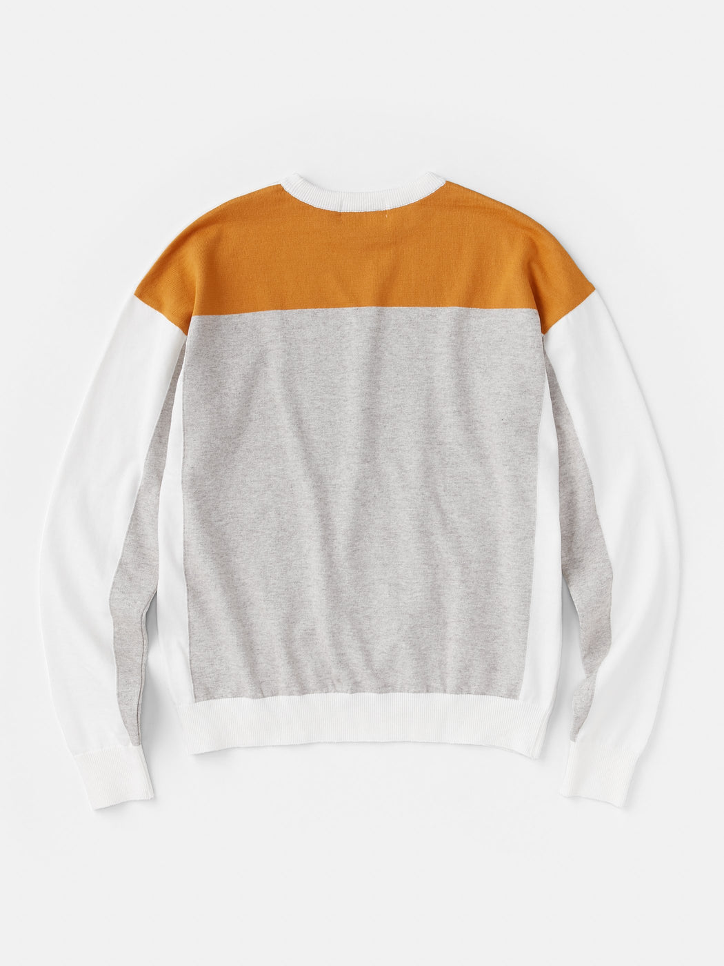 ALOYE G.F.G.S. Men's Cotton Knitted Sweater Off White-Heather Gray