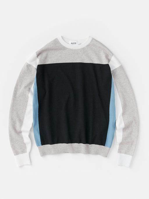 ALOYE G.F.G.S. Men's Cotton Knitted Sweater Heather Gray-Black