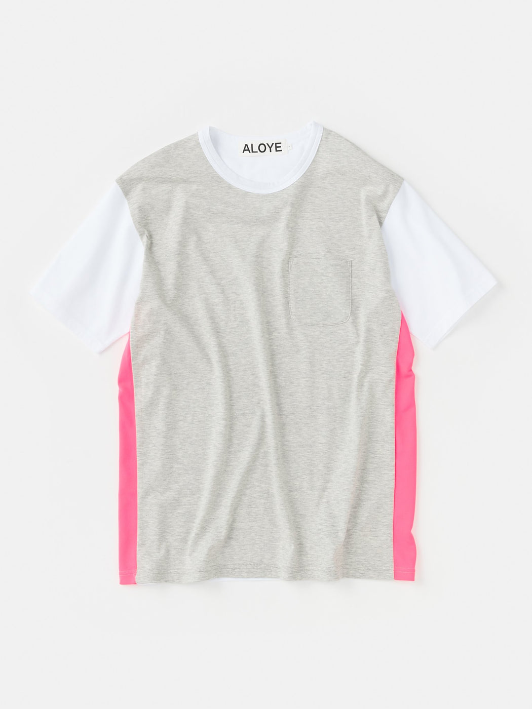ALOYE Shirt Fabrics Short Sleeve T-shirt Heather Gray-Pink