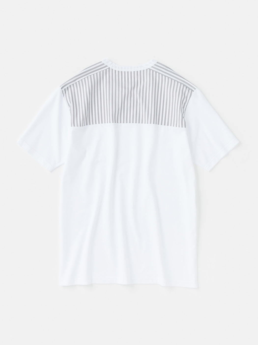 ALOYE Shirt Fabrics Short Sleeve T-shirt White-Gray Stripe