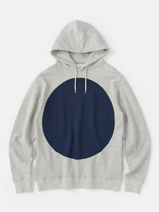 ALOYE Color Block Hoodie Heather Gray-Navy