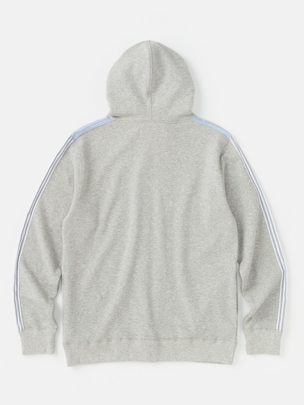 ALOYE Color Block Zip-Up Hoodie Heather Gray-Stripe