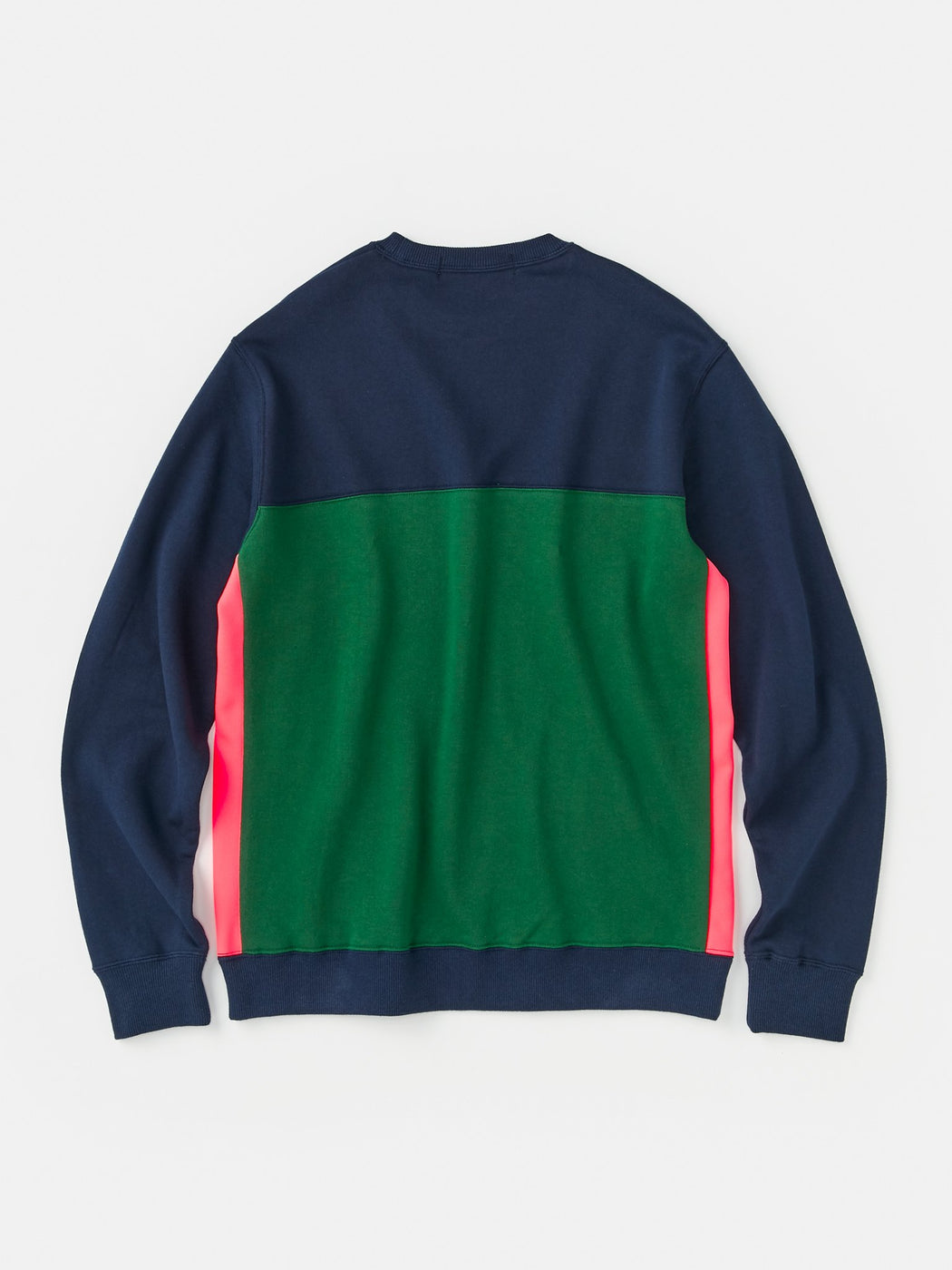 ALOYE Color Block Sweatshirt Navy-Green-Pink