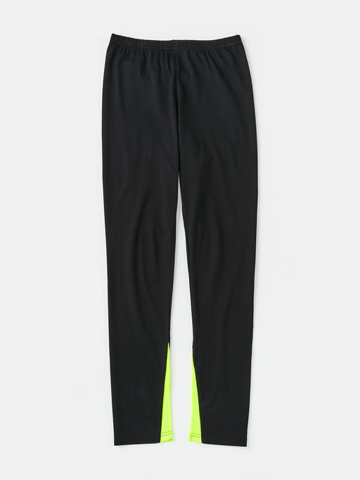 ALOYE Color Block Women's Leggings Pant Black-Yellow