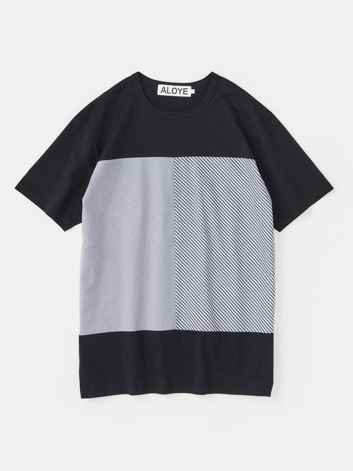 ALOYE Shirt Fabrics Short Sleeve T-shirt Black-Black Stripe