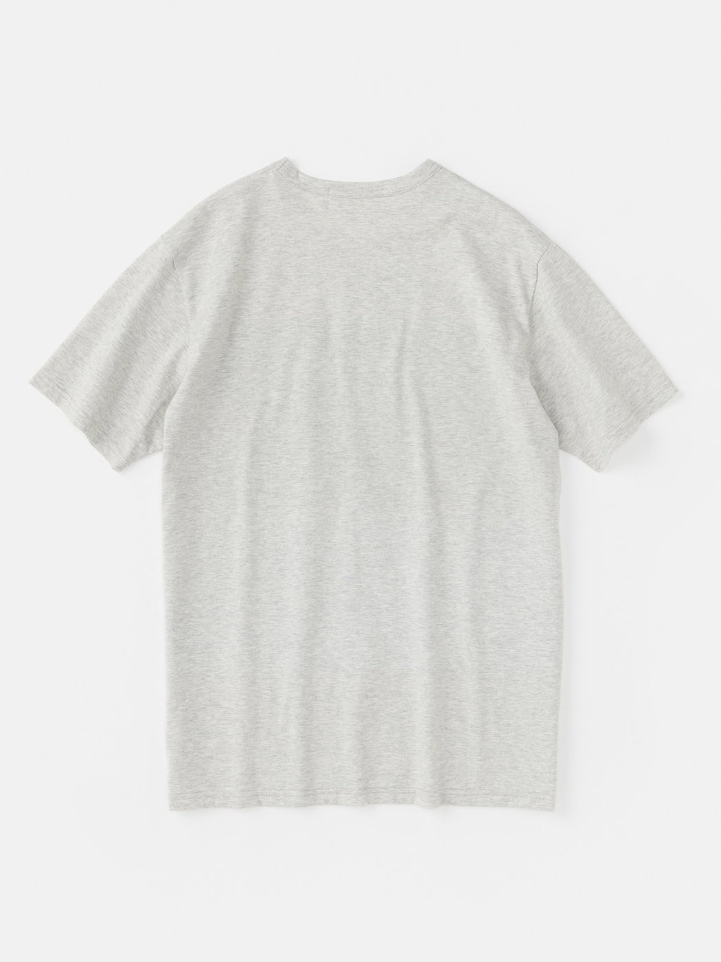 ALOYE Shirt Fabrics Short Sleeve T-shirt Heather Gray-Blue Stripe