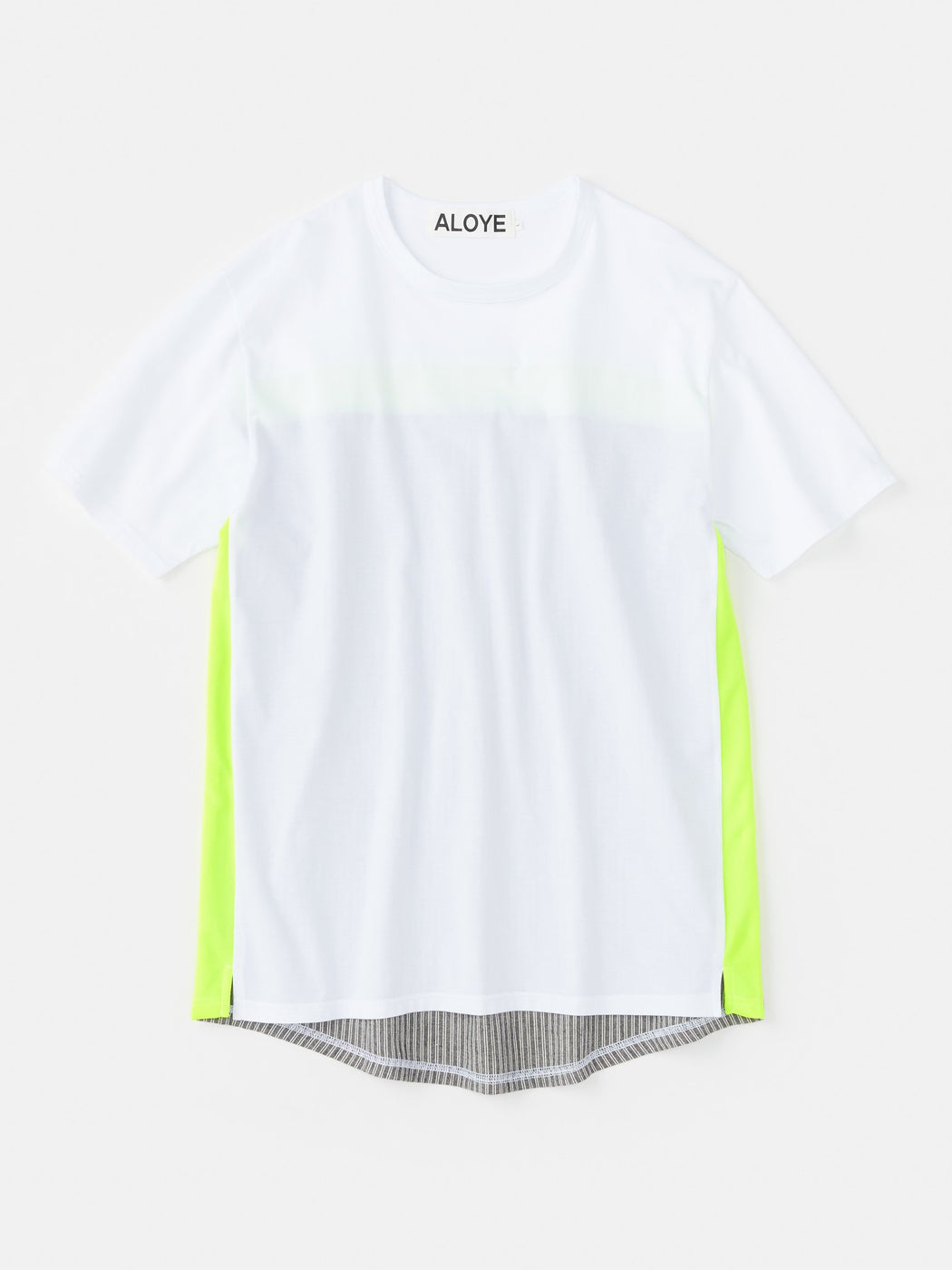 ALOYE Shirt Fabrics Short Sleeve T-shirt White-Yellow-Kamedajima Stripe