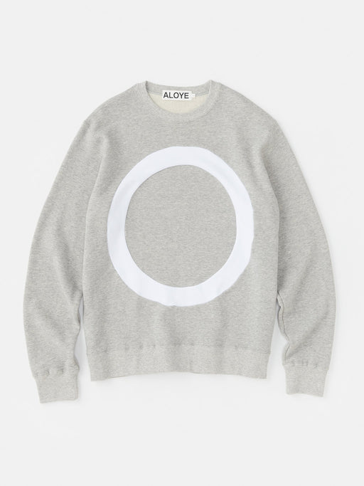 ALOYE Color Block Sweatshirt Heather Gray-White