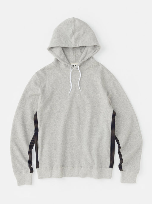 ALOYE Color Block Hoodie Heather Gray-Kamedajima Stripe