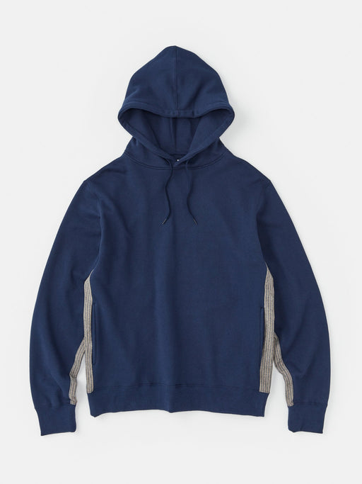 ALOYE Color Block Hoodie Navy-Kamedajima Stripe