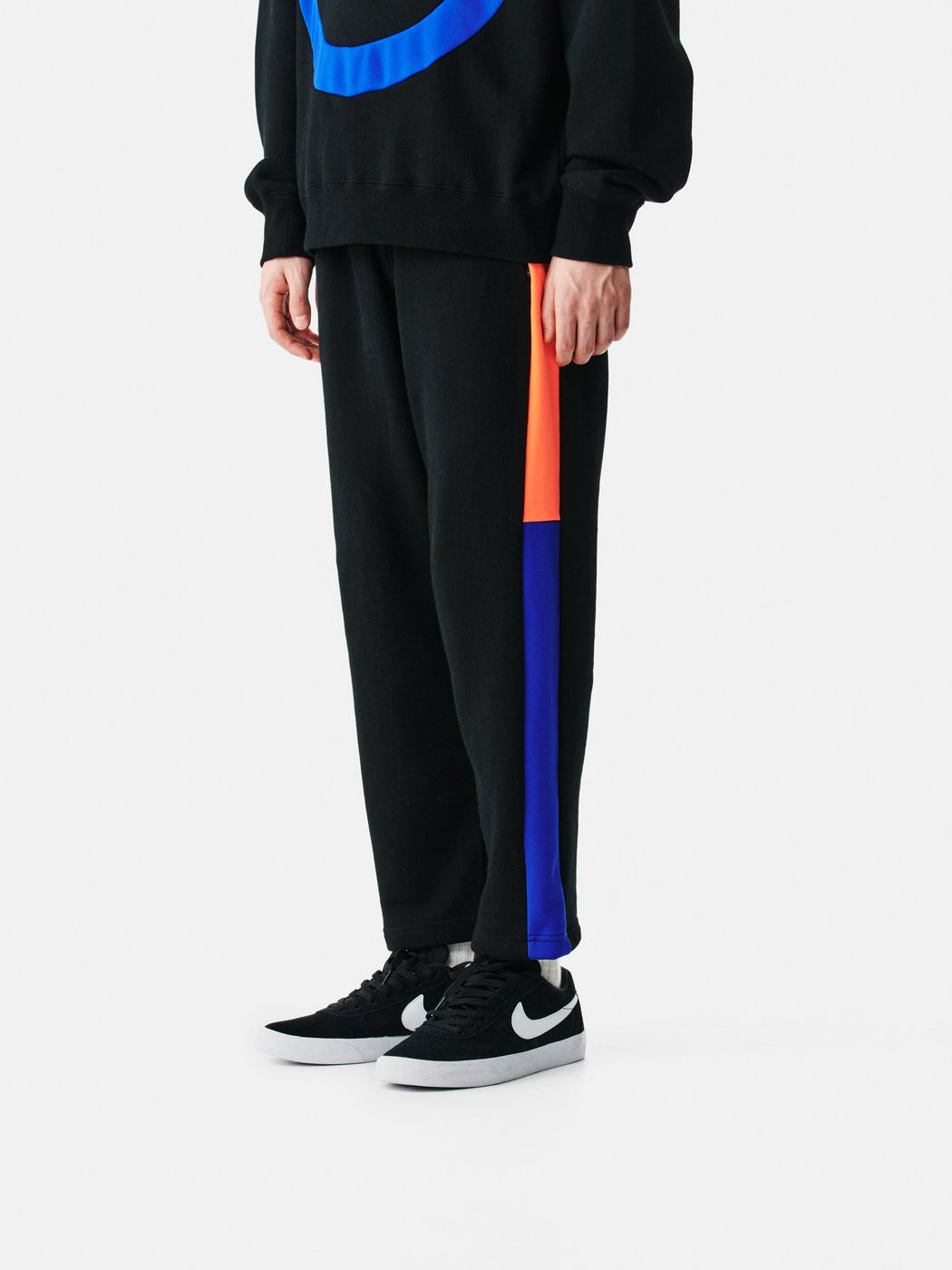 ALOYE Color Block Sweat Pant Back-Neon Orange