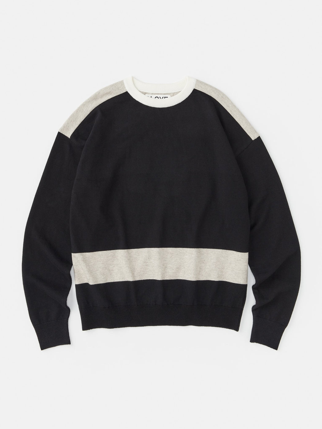ALOYE G.F.G.S. Cotton Knitted Sweater Black-Heather Gray