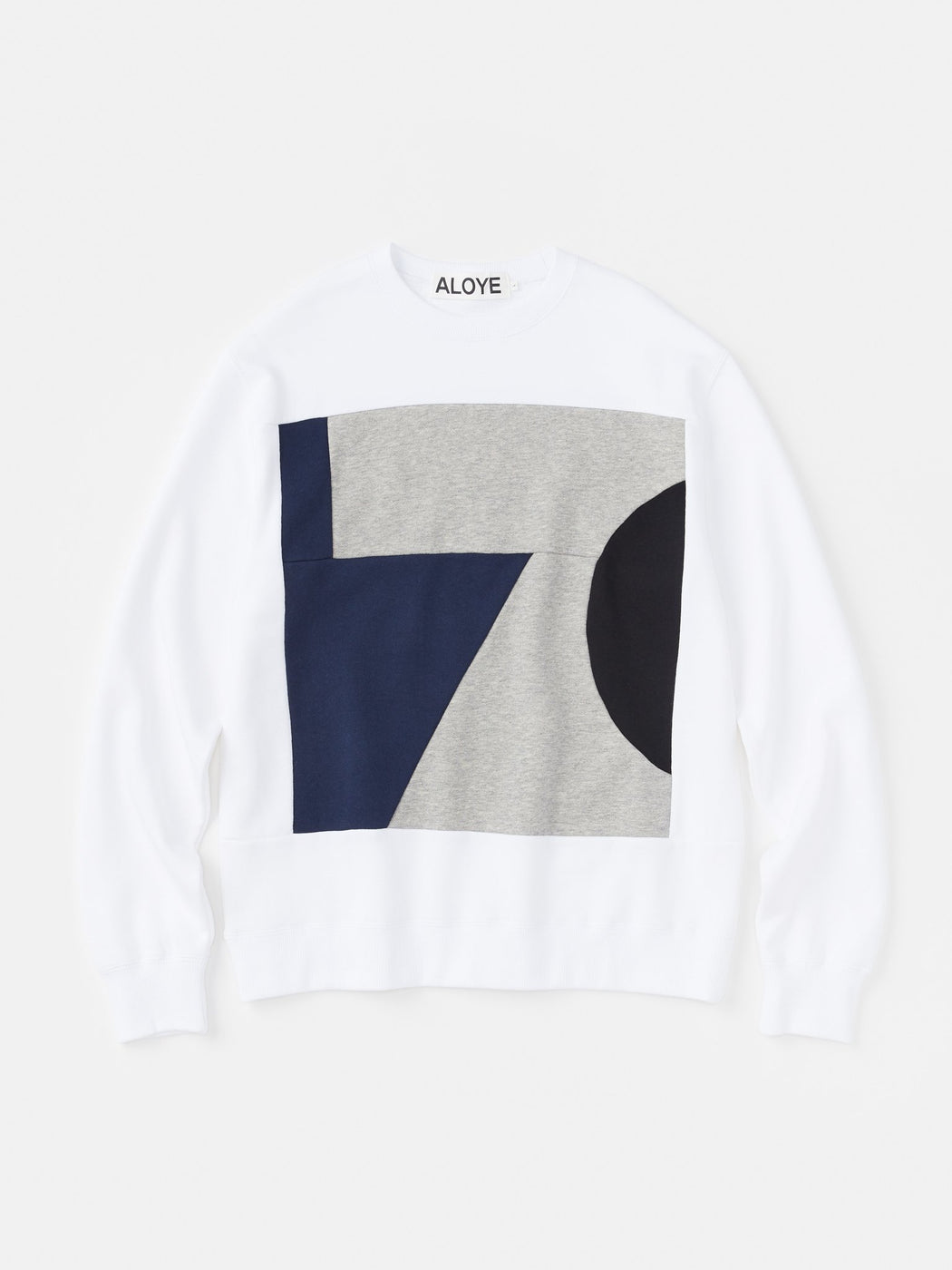 ALOYE Color Blocks Sweatshirt White