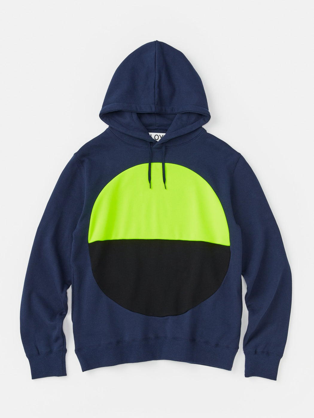 ALOYE Color Blocks Hoodie Navy