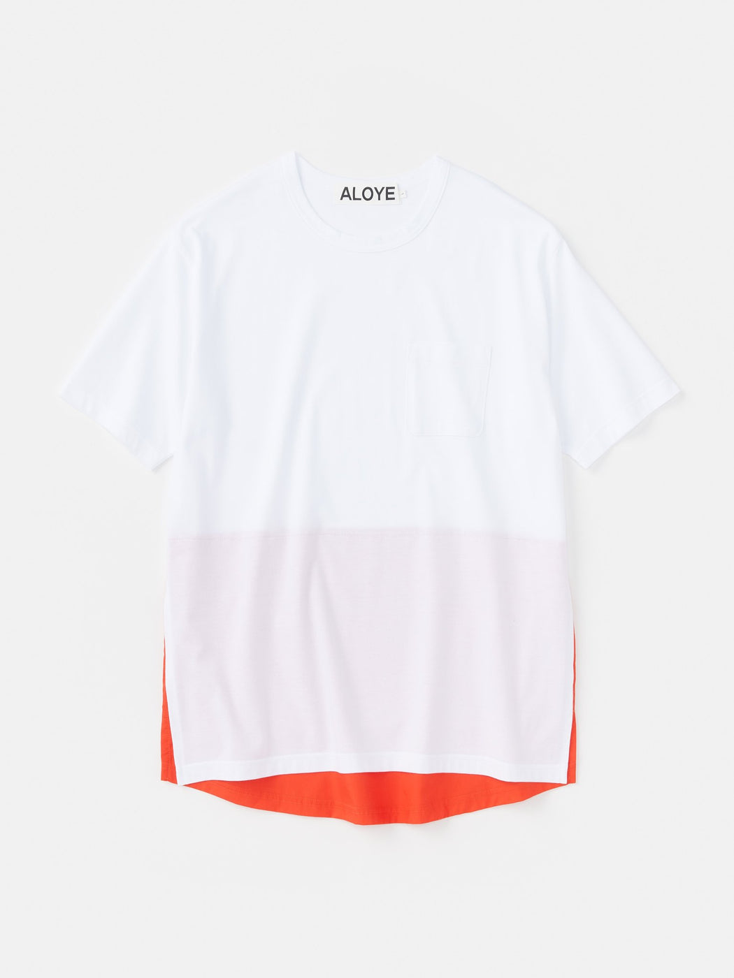 ALOYE Shirt Fabrics Short Sleeve Layerd T-shirt White-Red