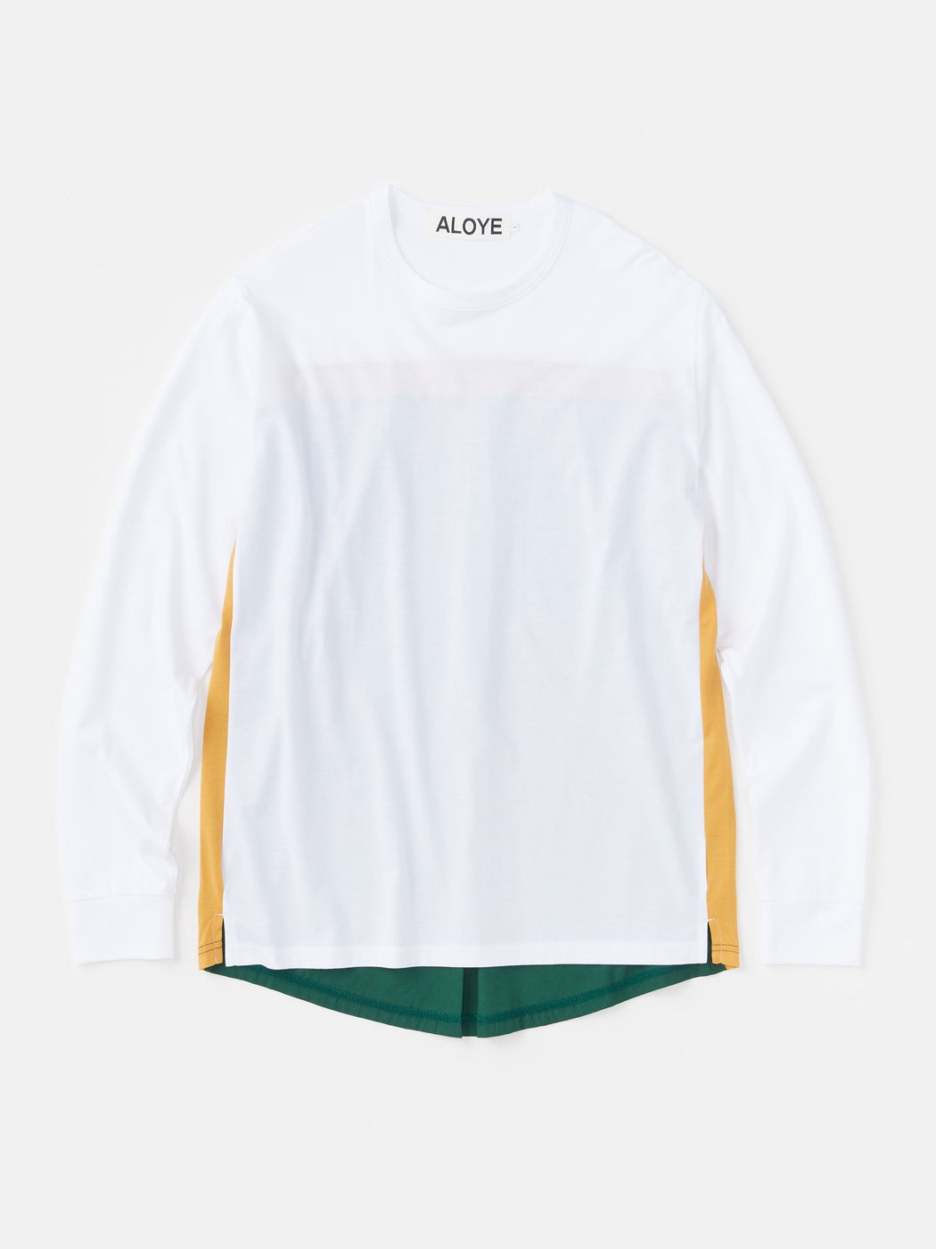 ALOYE Shirt Fabrics Long Sleeve T-shirt White-Green