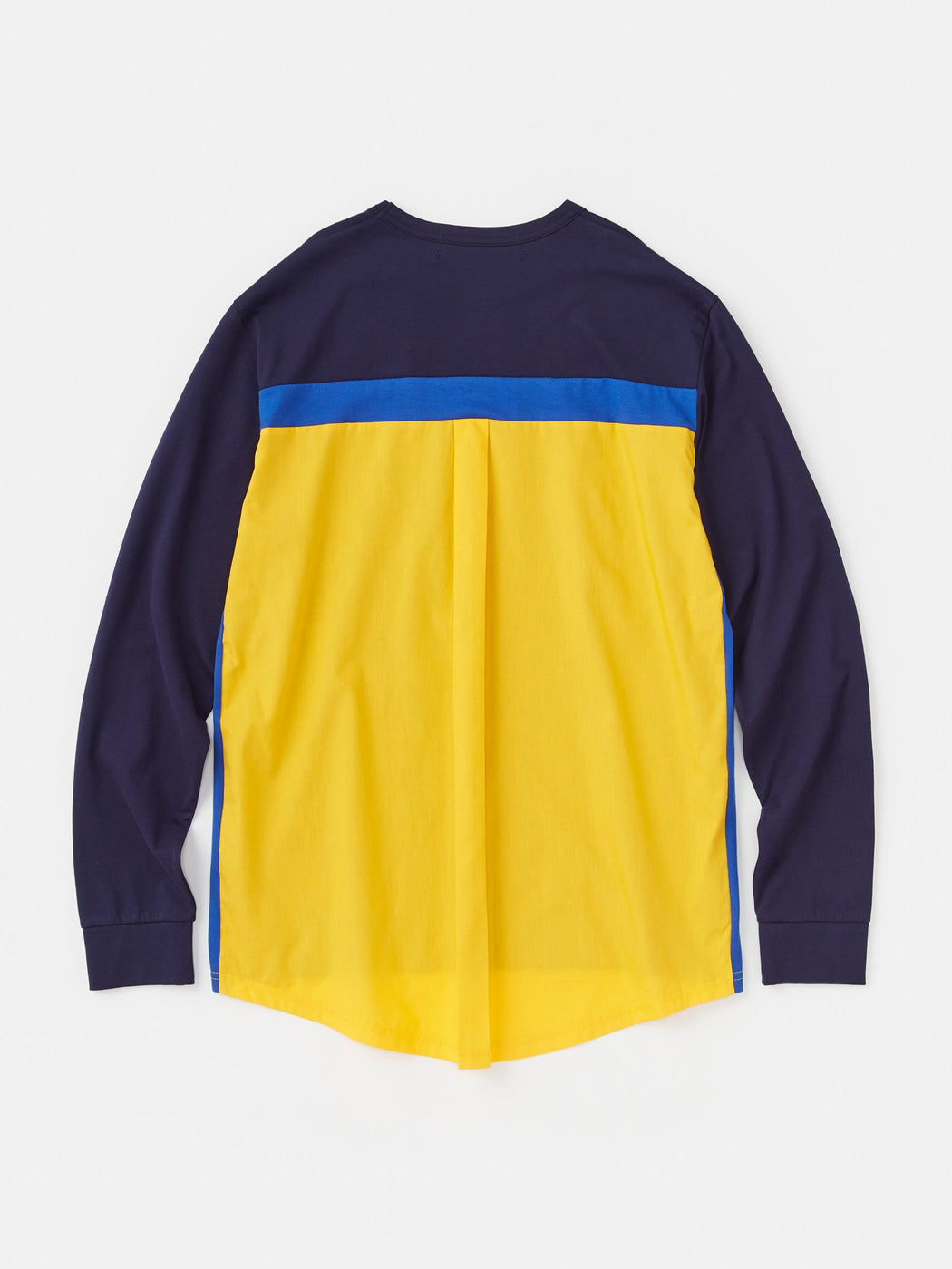 ALOYE Shirt Fabrics Long Sleeve T-shirt Navy-Yellow