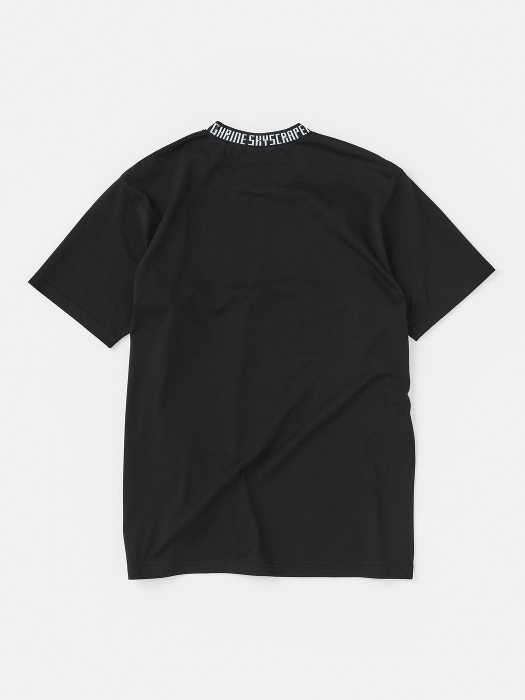 ALOYE Takahashi Knit Short Sleeve T-shirt Black-Typo