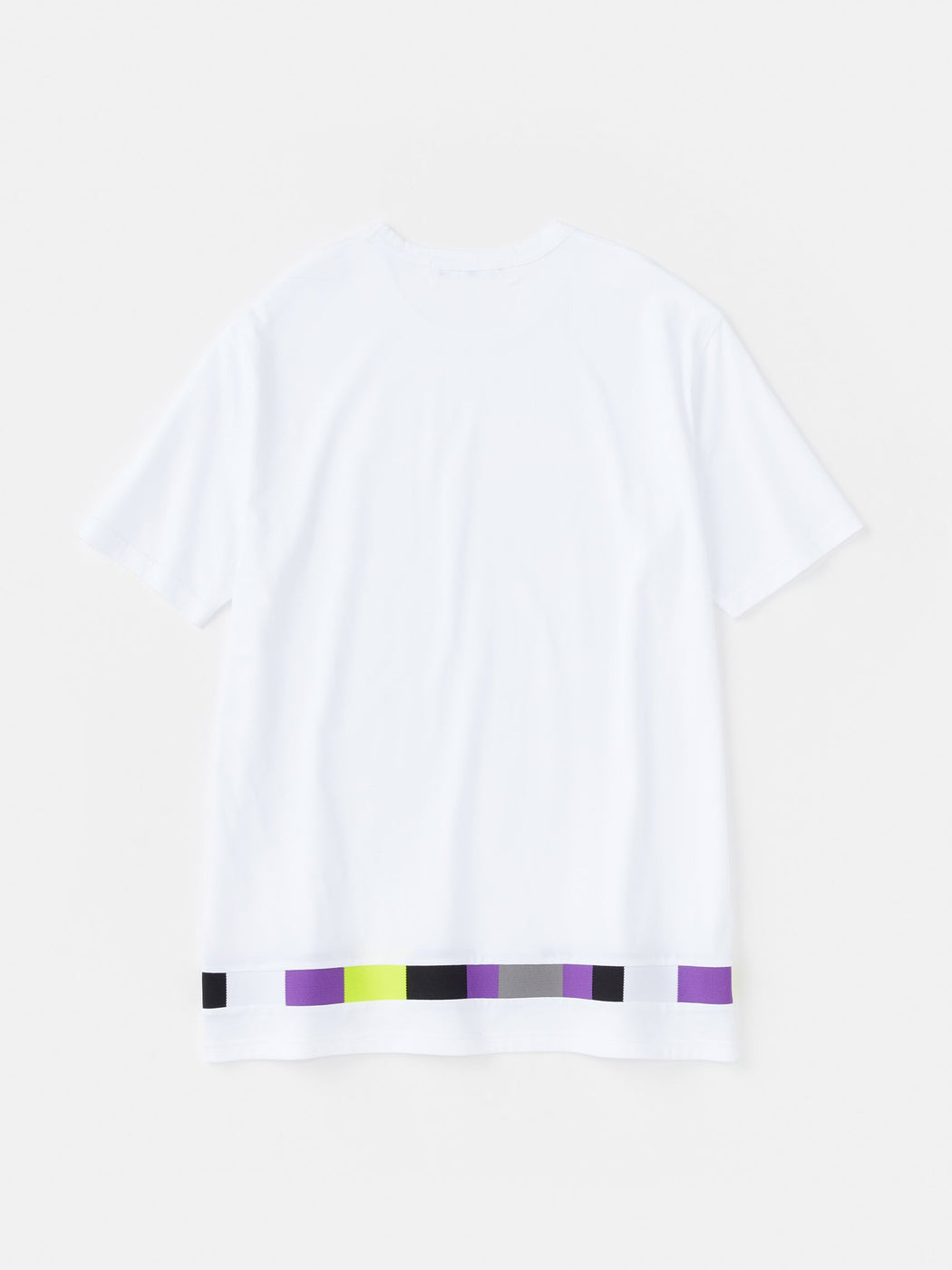 ALOYE Takahashi Knit Short Sleeve T-shirt White-Color Mosaic