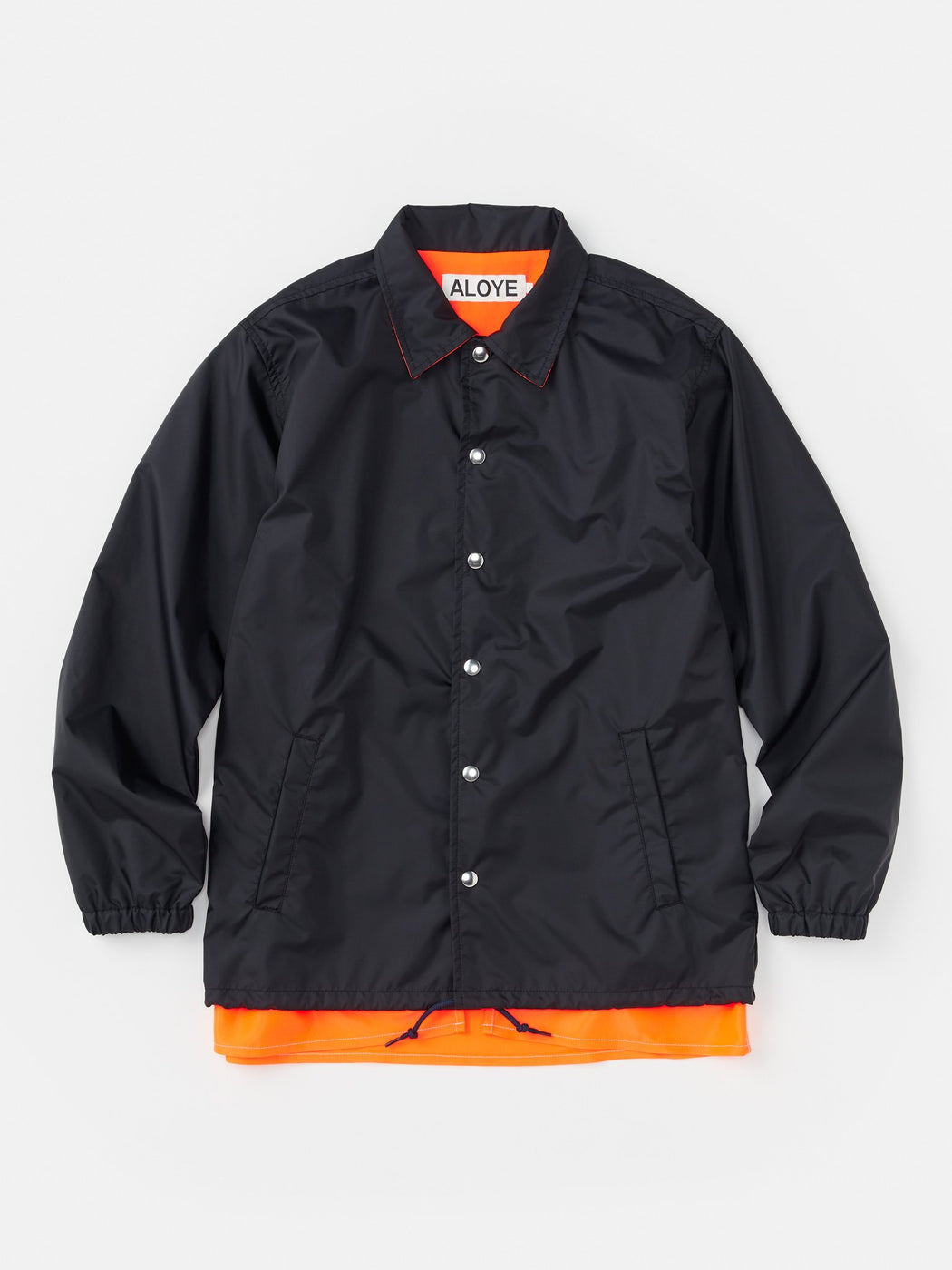 ALOYE Color Blocks Coach Jacket Black