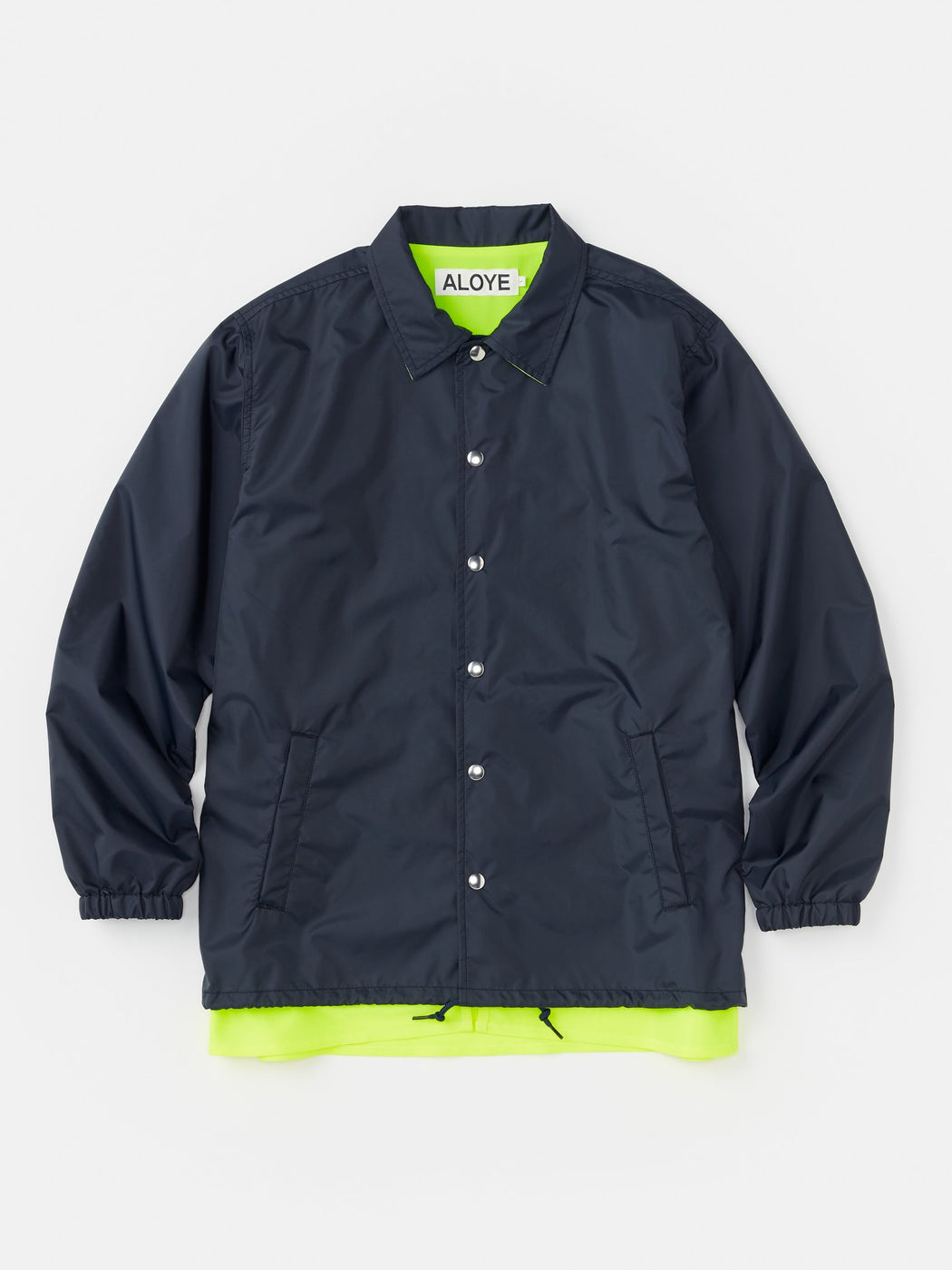 ALOYE Color Blocks Coach Jacket Navy