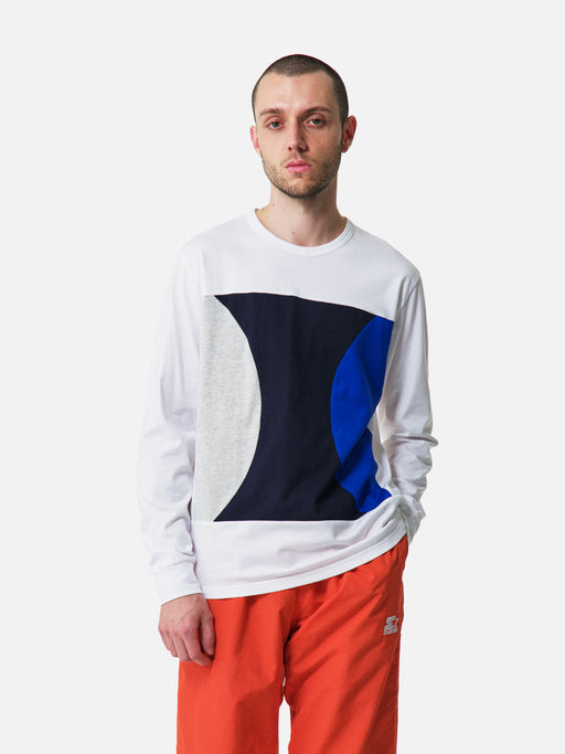 ALOYE Color Blocks Long Sleeve T-shirt White