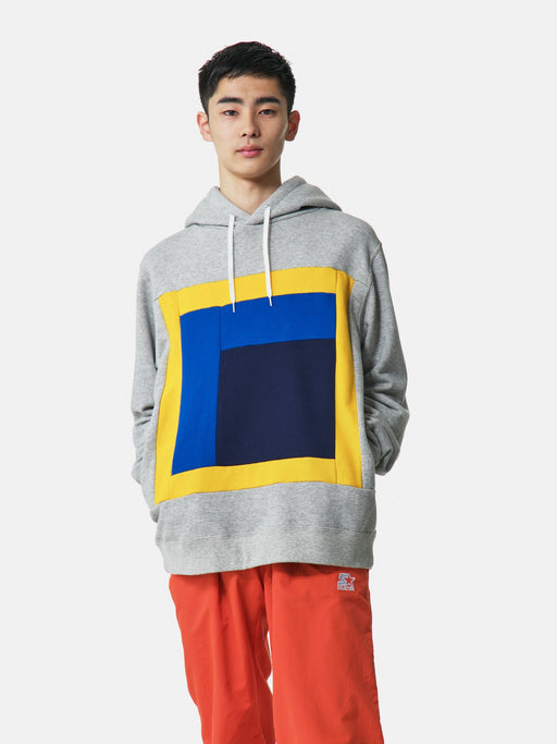 ALOYE Color Blocks Hoodie Heather Gray
