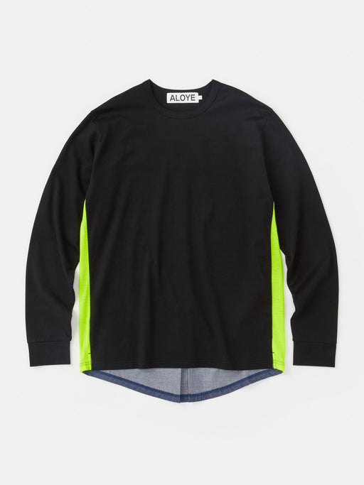ALOYE Shirt Fabrics Long Sleeve T-shirt Black