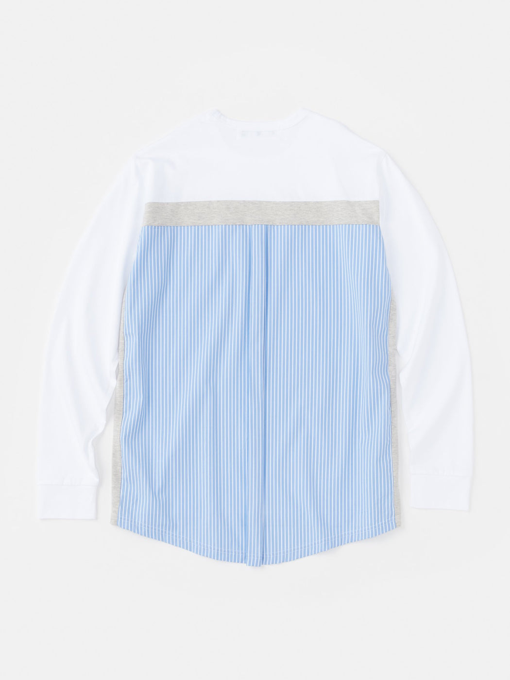 ALOYE Shirt Fabrics Long Sleeve T-shirt Blue Stripe