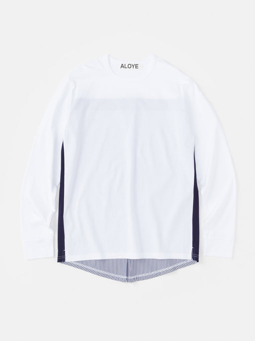 ALOYE Shirt Fabrics Long Sleeve T-shirt Navy Stripe