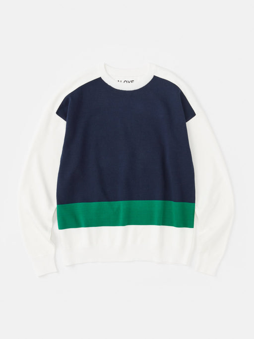 ALOYE G.F.G.S. Cotton Knitted Sweater White