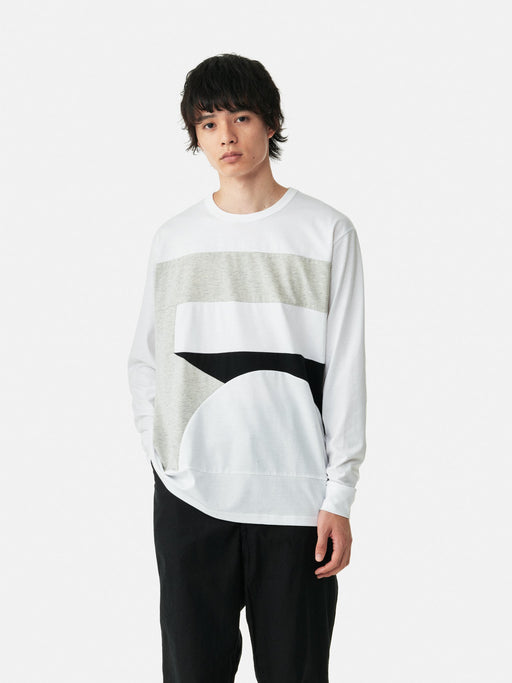 ALOYE Color Blocks Long Sleeve T-shirt Color