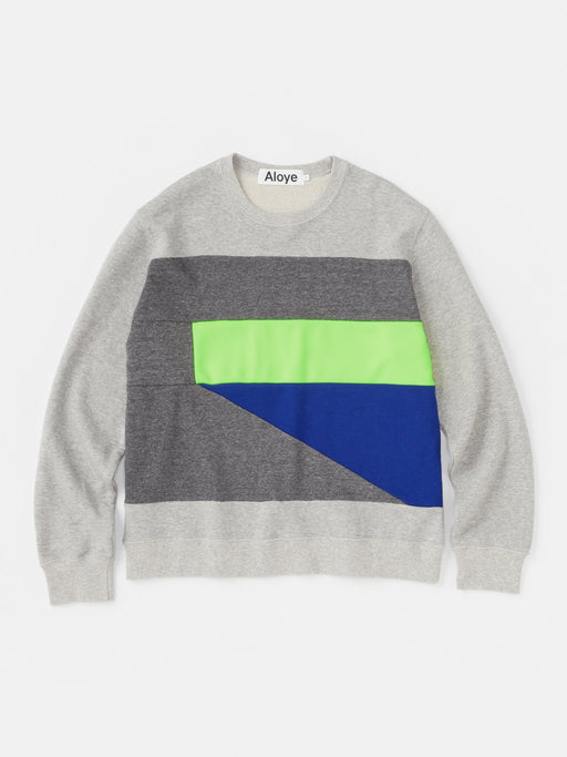 ALOYE Color Blocks Crewneck Sweatshirt Color