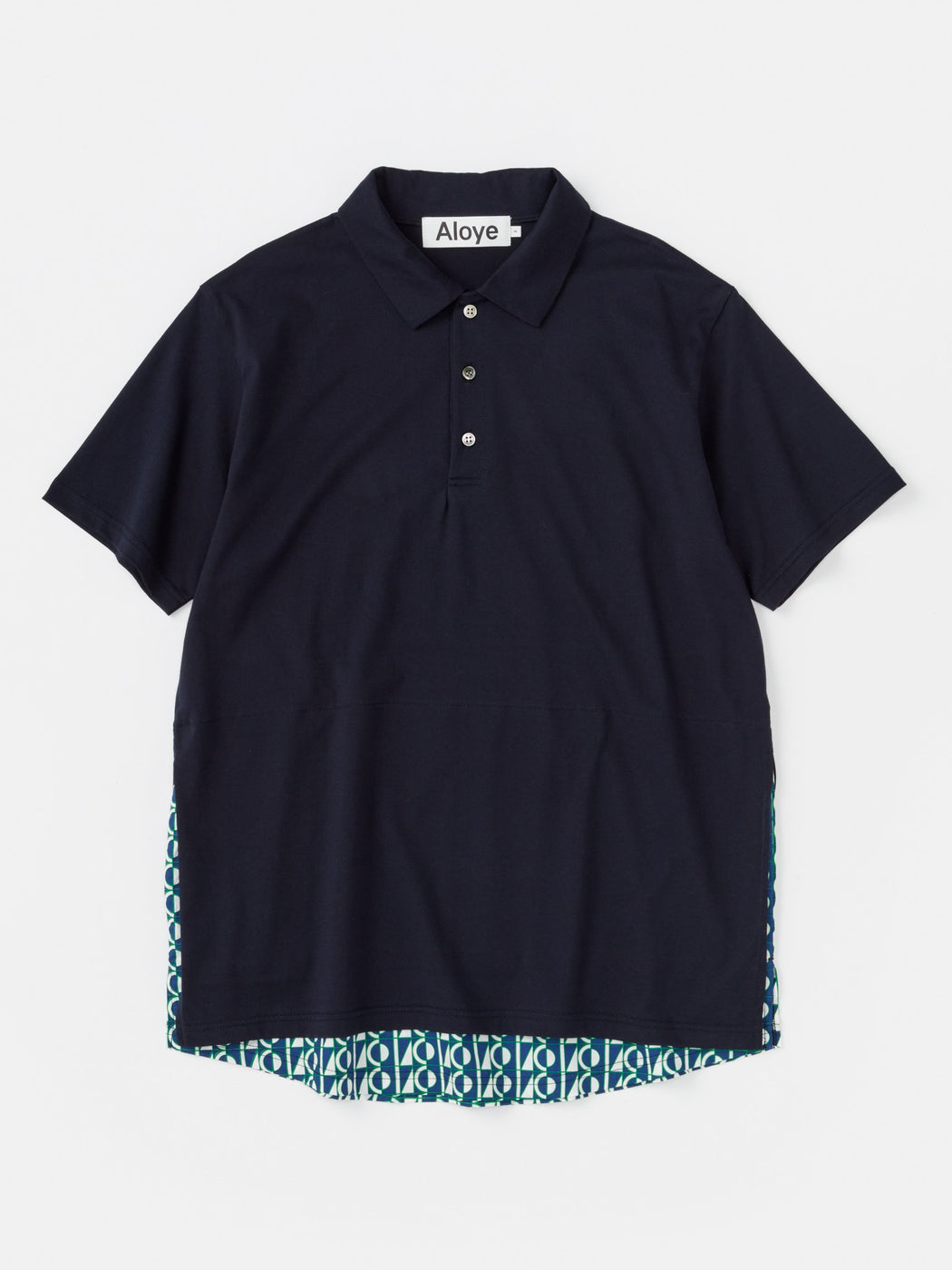 ALOYE Anniversary Textile Short Sleeve Layerd Polo Shirt Color