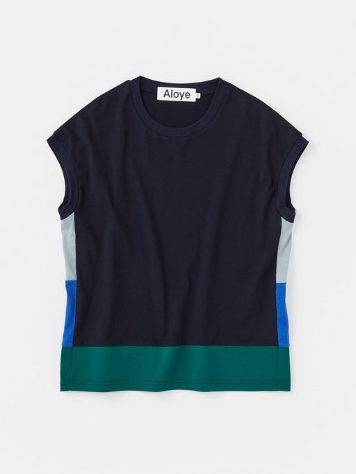 ALOYE Color Blocks Women's Capped Sleeve T-shirt Color