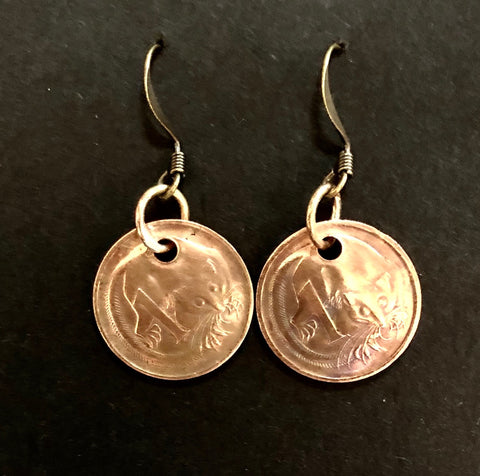 1c copper earrings