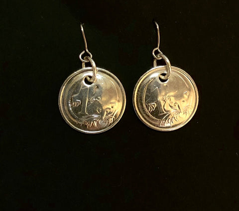 1c silver earrings
