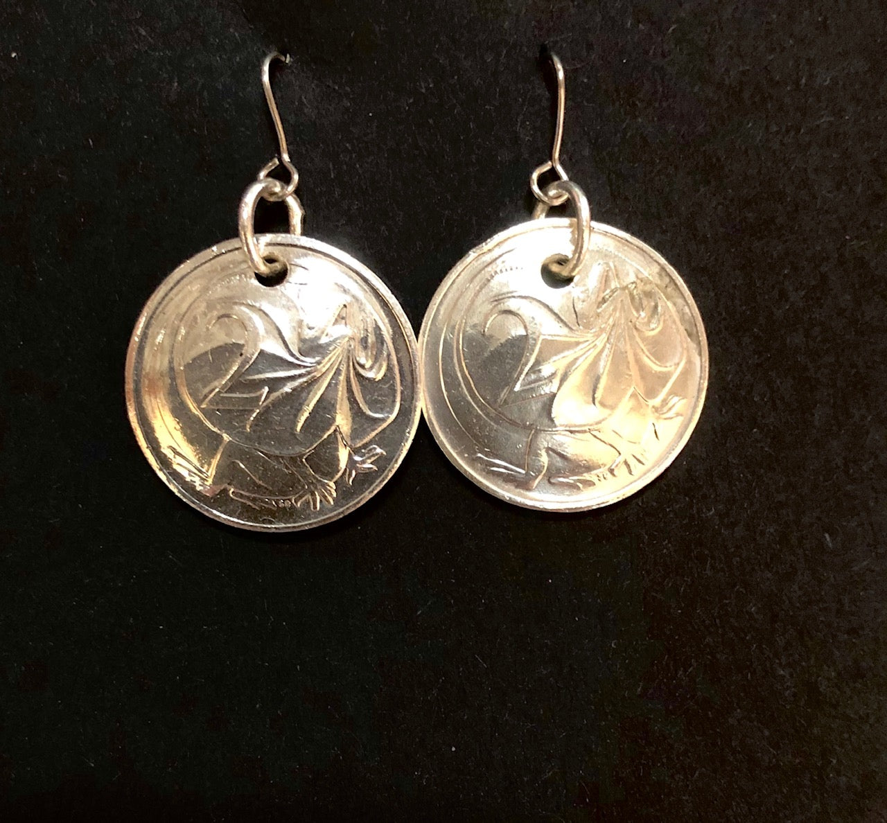 2c silver earrings