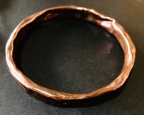 Copper Scrunch bangle