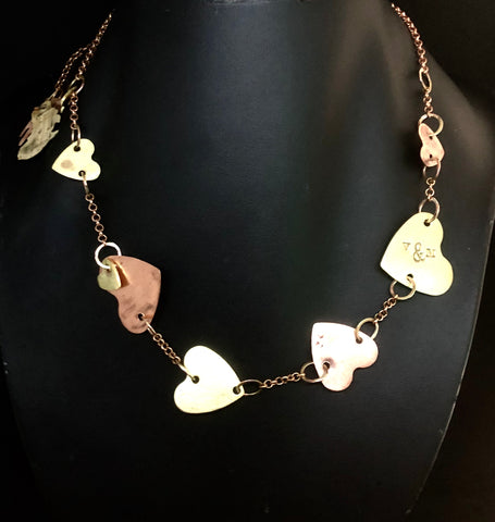 Chain of hearts 1 tier necklace