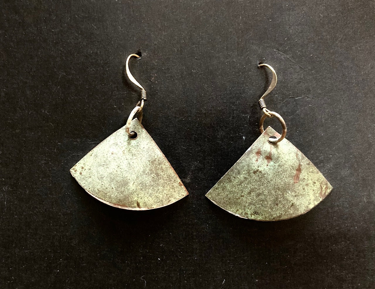 Salvage church roof earrings fan 40