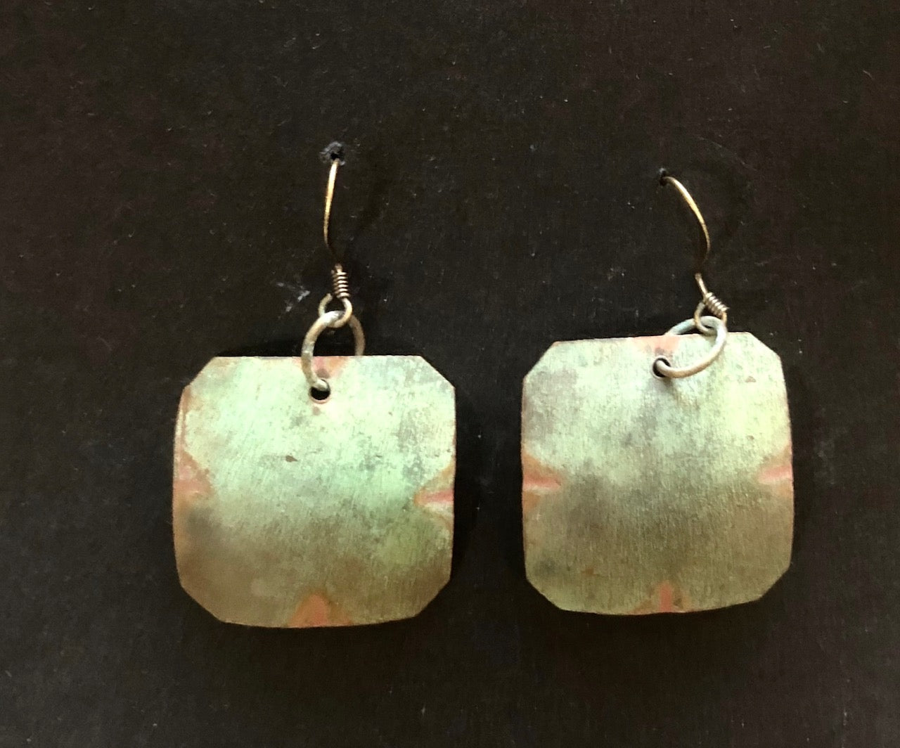 Salvage church roof earrings rectangle 40