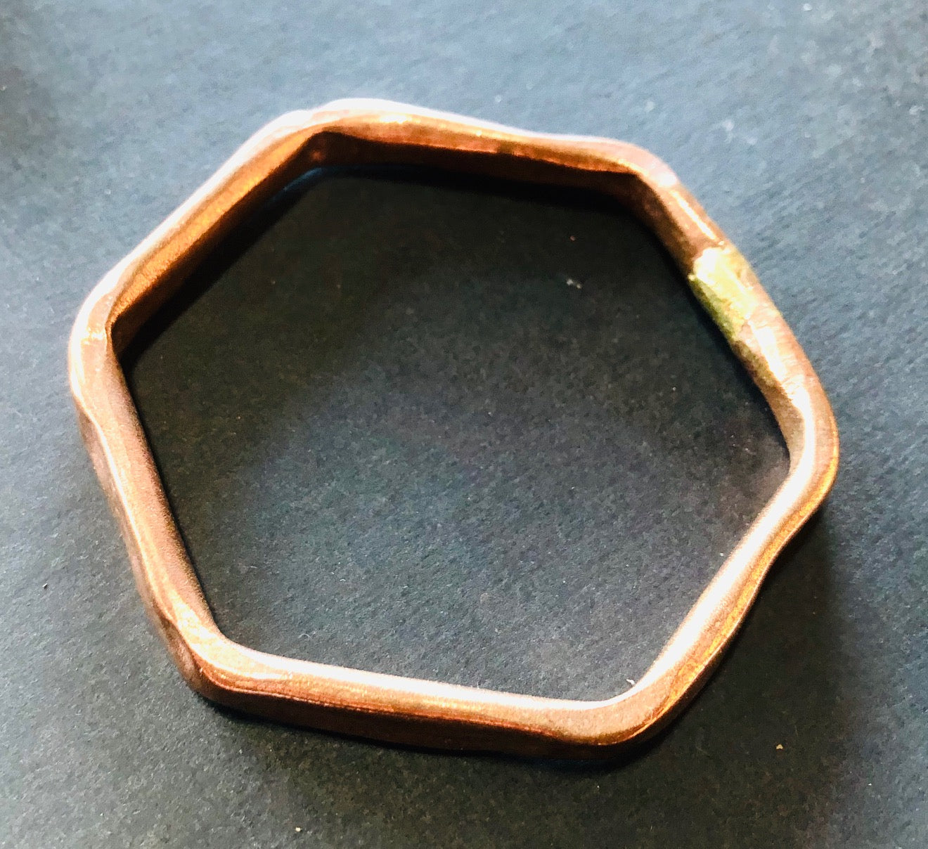Classic copper hexagon bangle