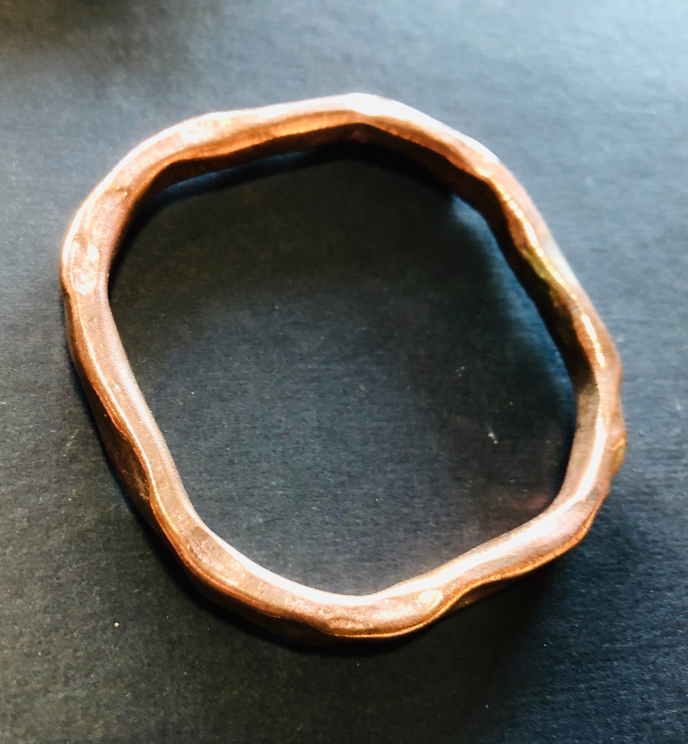 Classic copper square bangle