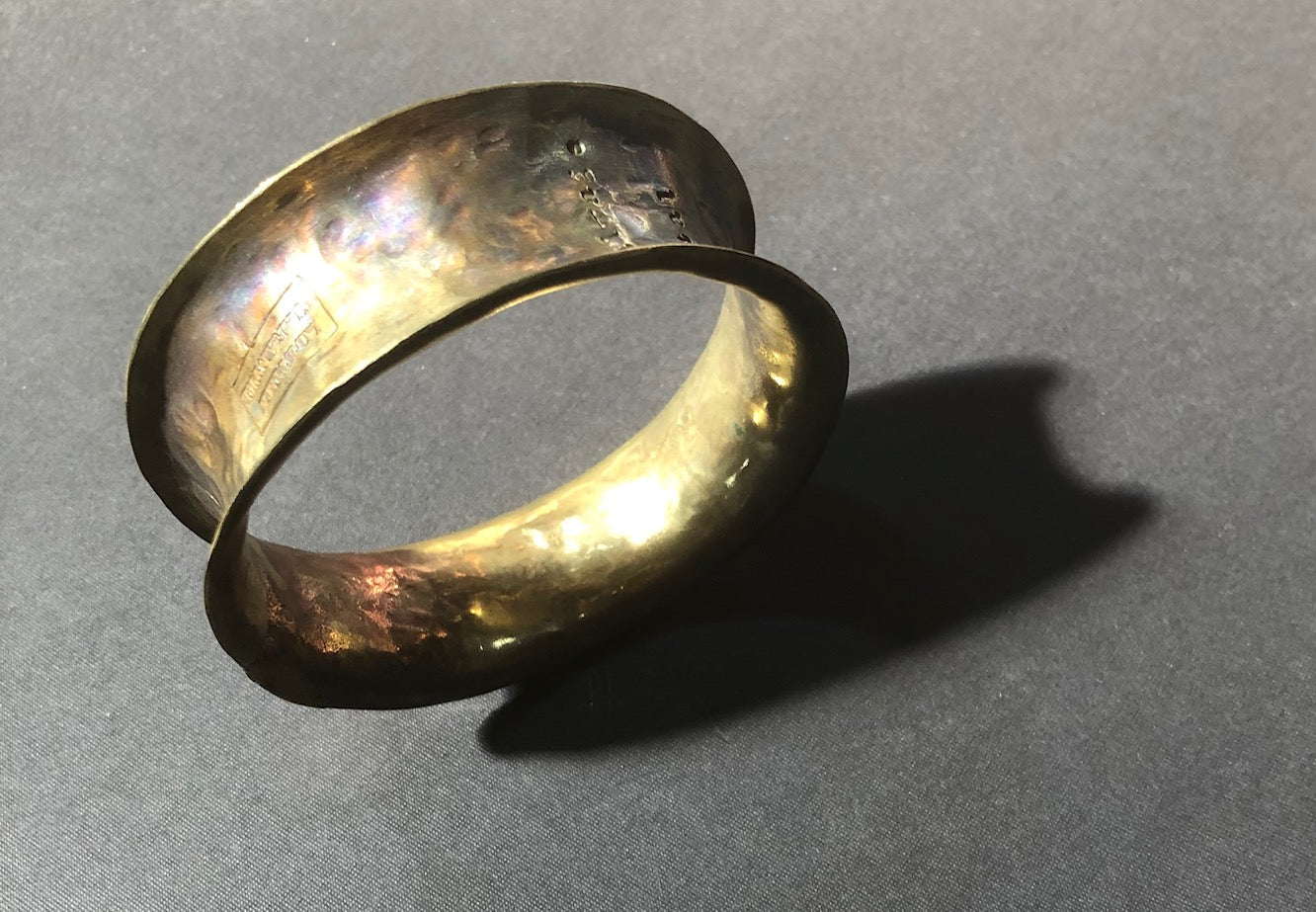 Brass concave bangle