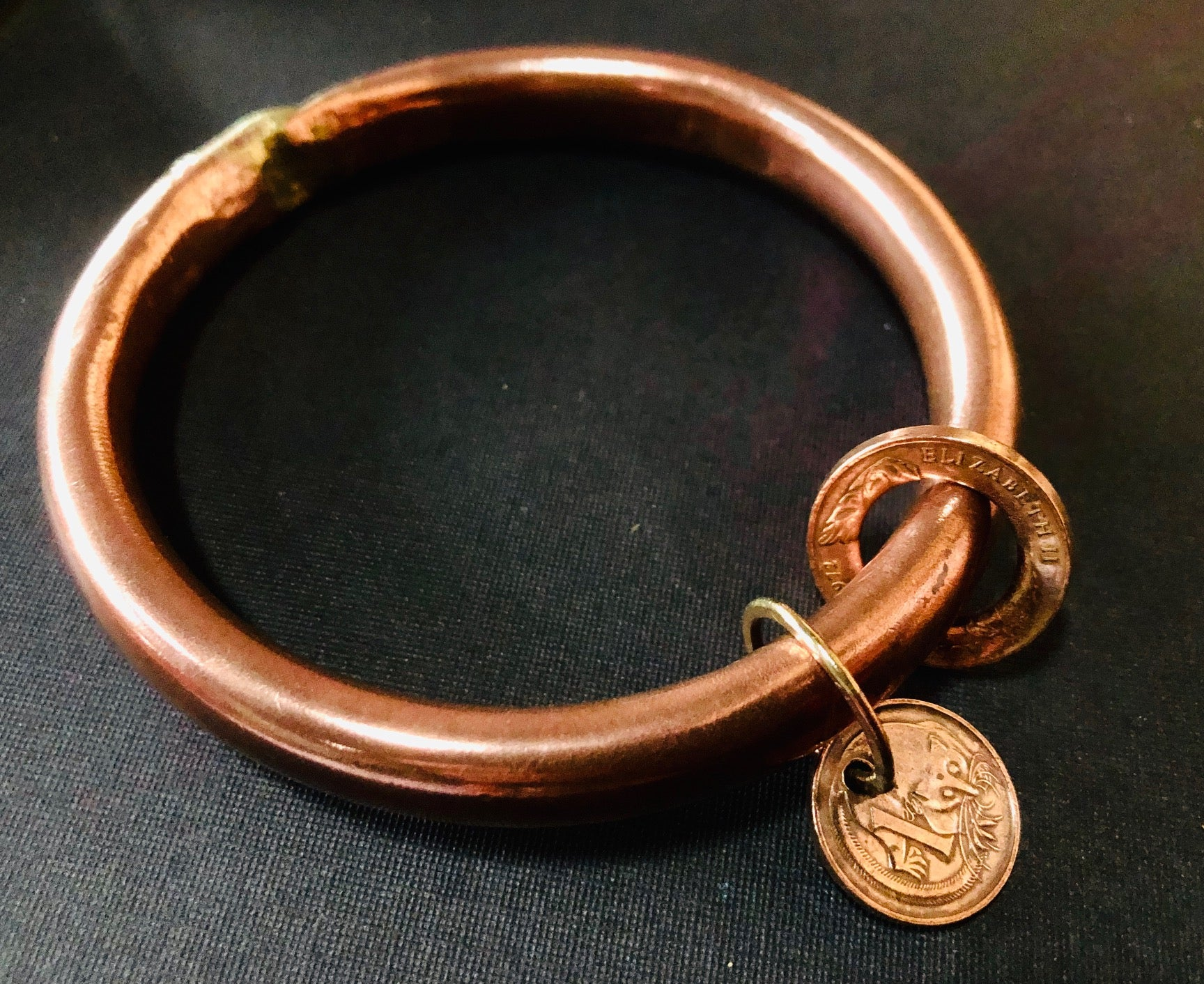 Anvil Bangle coin copper