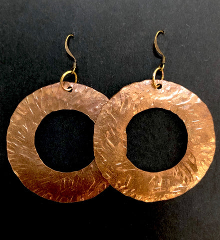 Copper retro hoops