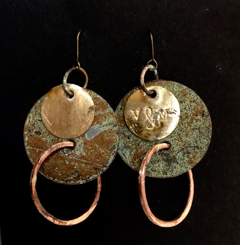 Church patina roof earrings 65