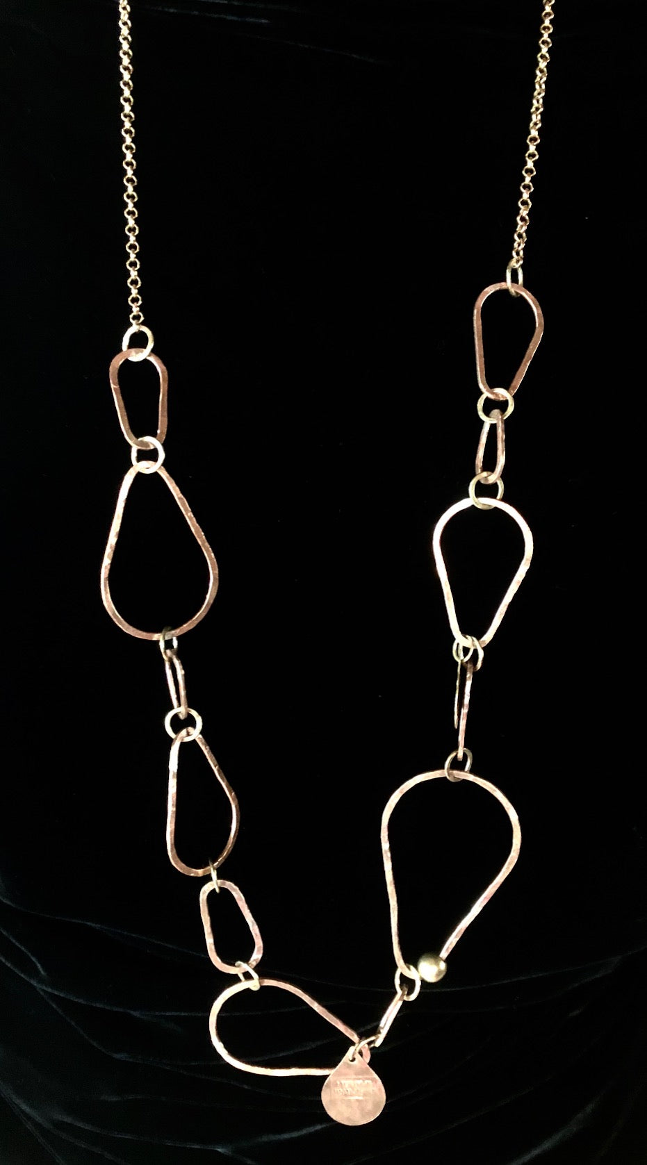Long Pear Hoop copper
