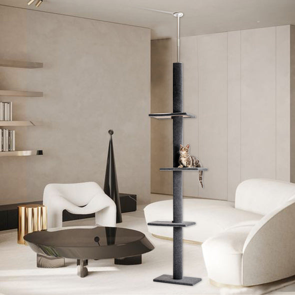 "PAWZ Road Cat Tree Dual Platform 34"" Cat Tower -Grey"